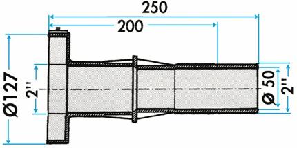 dimensions traversée de paroi 3353 hayward