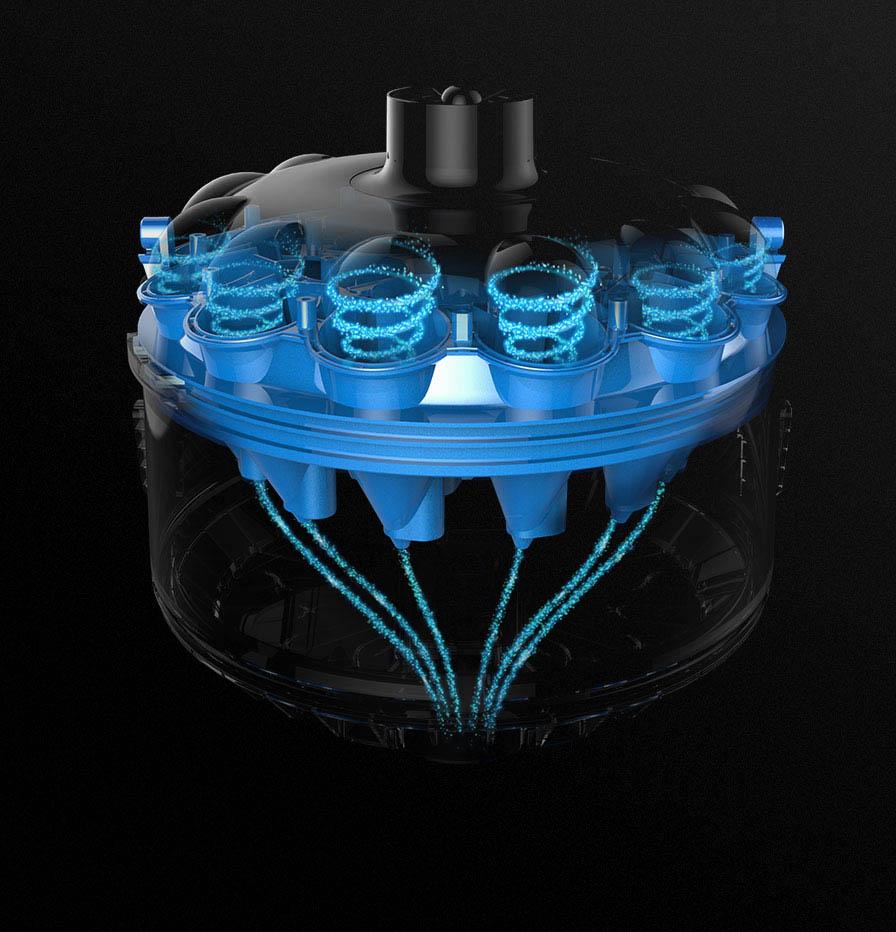 aquavac 600, technologie spintech, technologie dyson, hayward