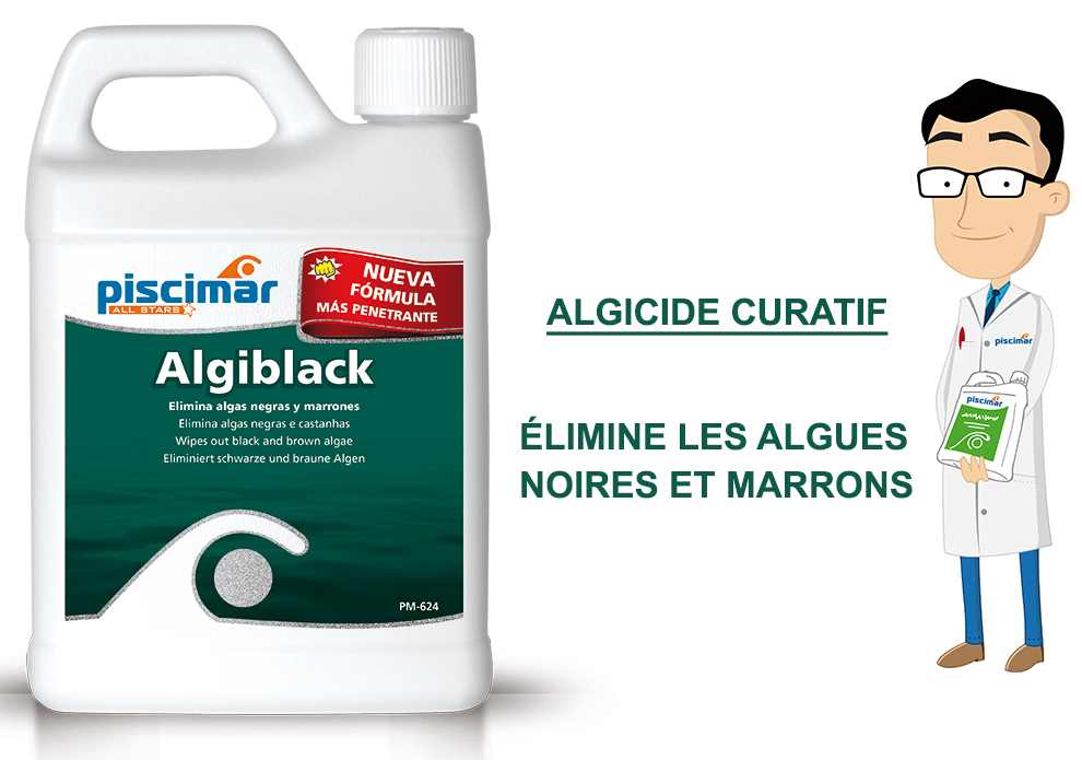 algiblack, piscimar, élimine les algues noires