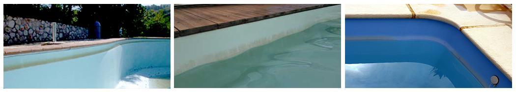 ligne d'eau encrassée