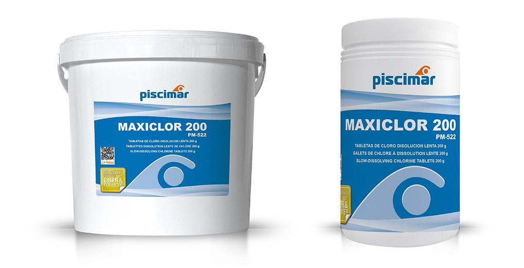 piscimar, chlore lent, maxiclor 200