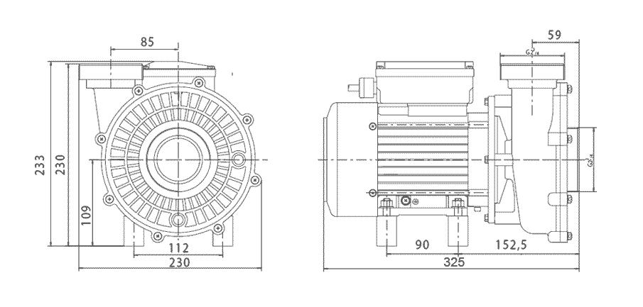 dimensions pompe solubloc