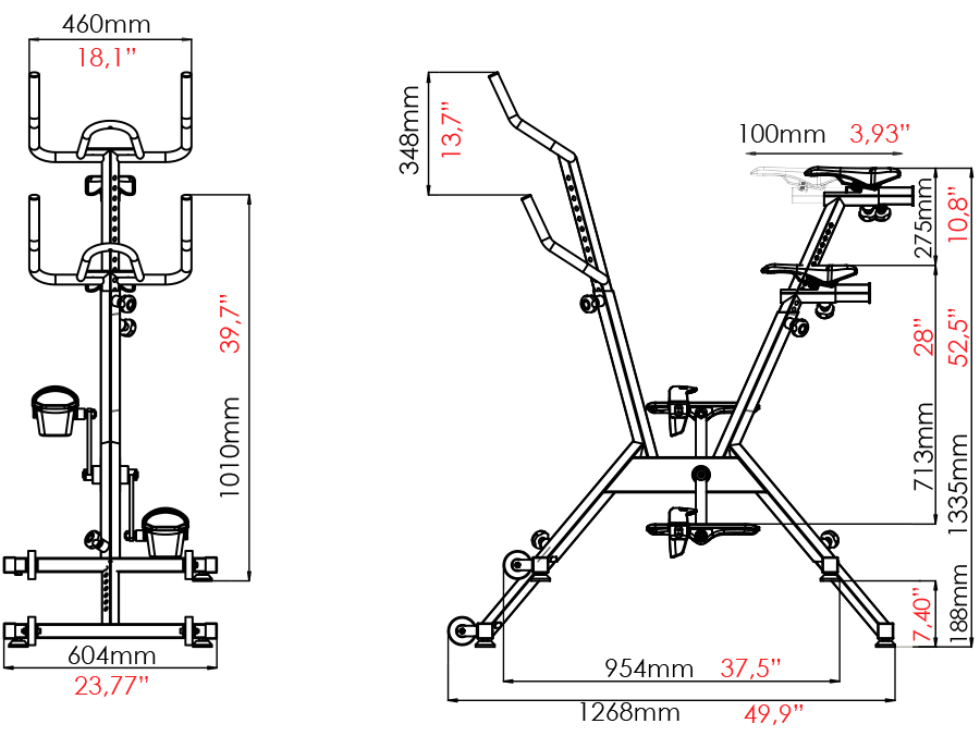 dimensions aquabike evolution