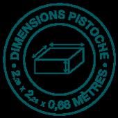 dimensions piscine pistoche