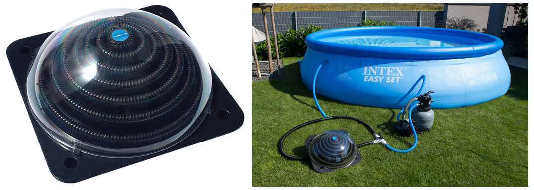Solar heater dome for above ground pools solar dome heater - Dome pour piscine hors sol ...