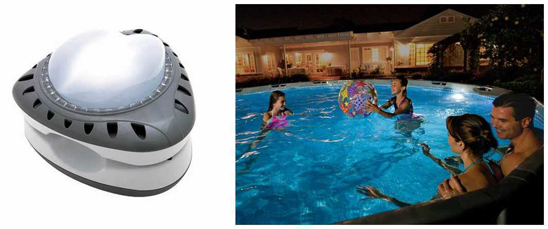 Lampe led piscine lampe led magntique intex with lampe for Lampe piscine bois