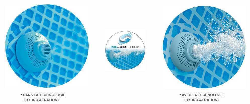 système hydro aération sur platine de filtration intex