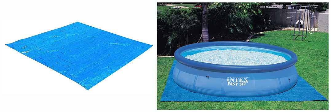 Intex square ground cloth intex ground cloth for Intex pool 150 cm tief