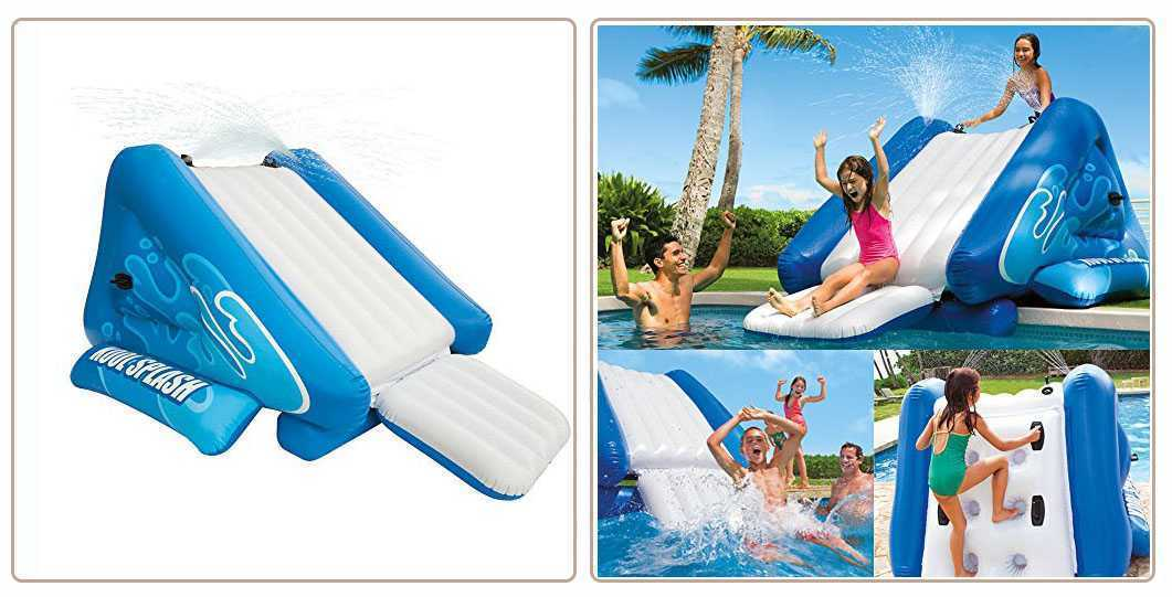 Toboggan gonflable pour piscine enterre amazing piscine for Toboggan piscine adulte