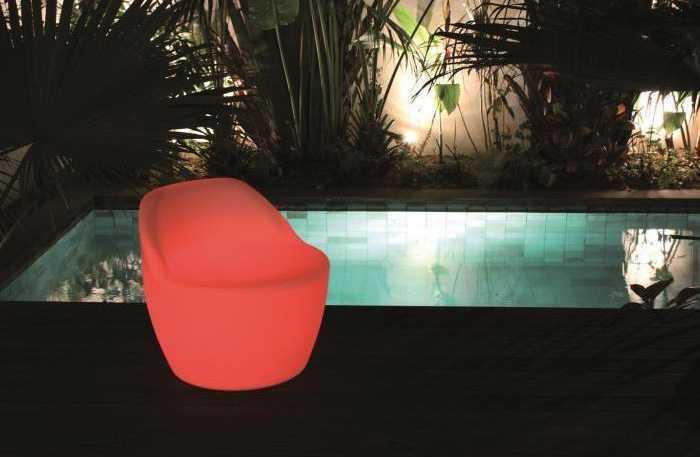led beleuchteter stuhl     gartensalon, Gartenmöbel