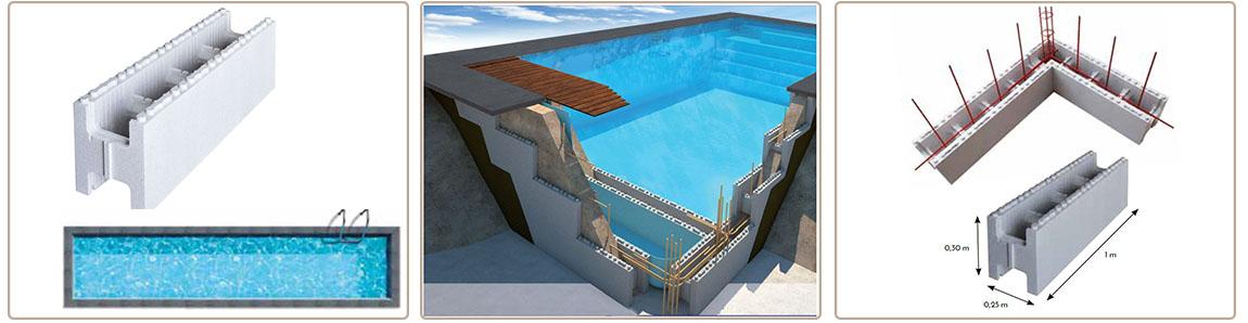 polystyrene c block classic swimming corridor height 1m50 c piscine. Black Bedroom Furniture Sets. Home Design Ideas