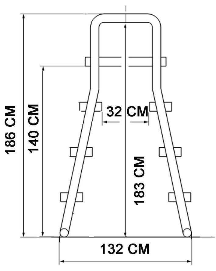 Echelle plateforme pour piscine hors sol flexinox - Plateforme pour piscine hors sol ...