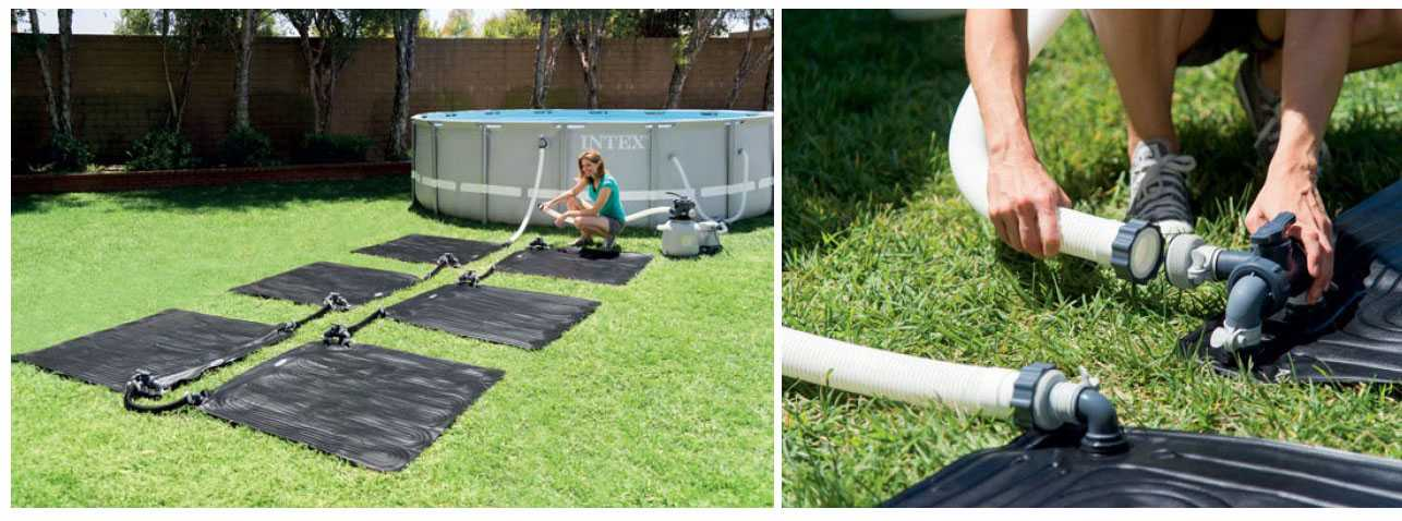 Intex solar heating mat intex solar heating for Chauffage piscine intex