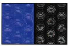 bâche à bulles, bleu, noir