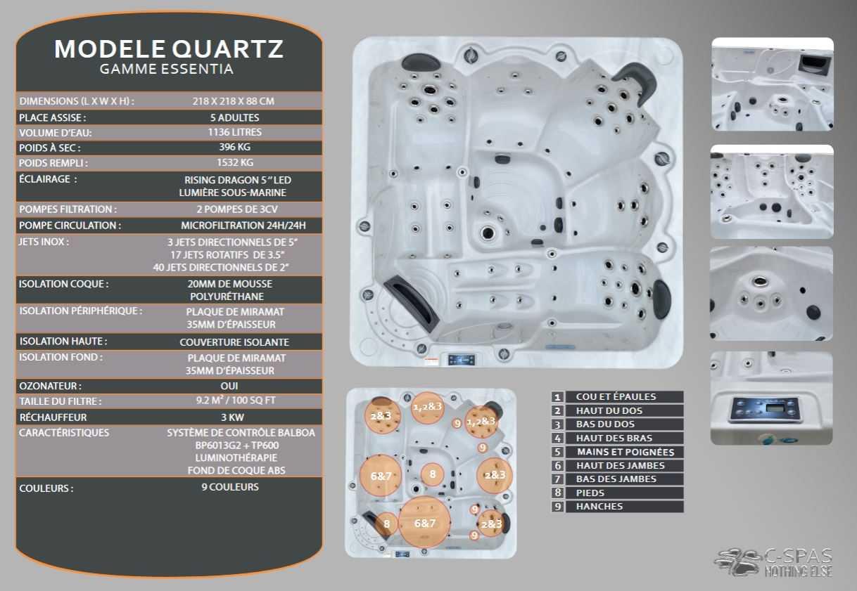 caractéristiques quartz cspas