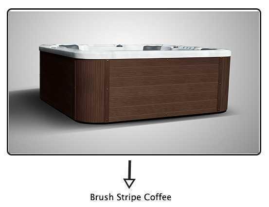 entourage pour spa c-spas coloris coffee en bois composite