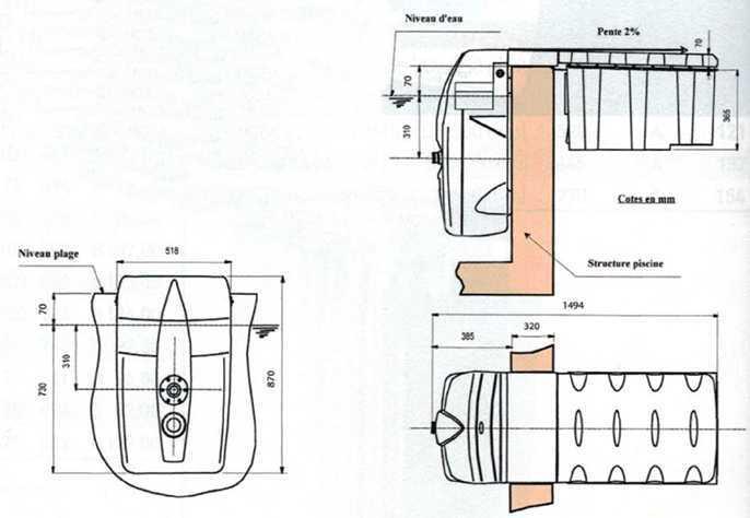 dimensions bloc filtrant filtrinov mx