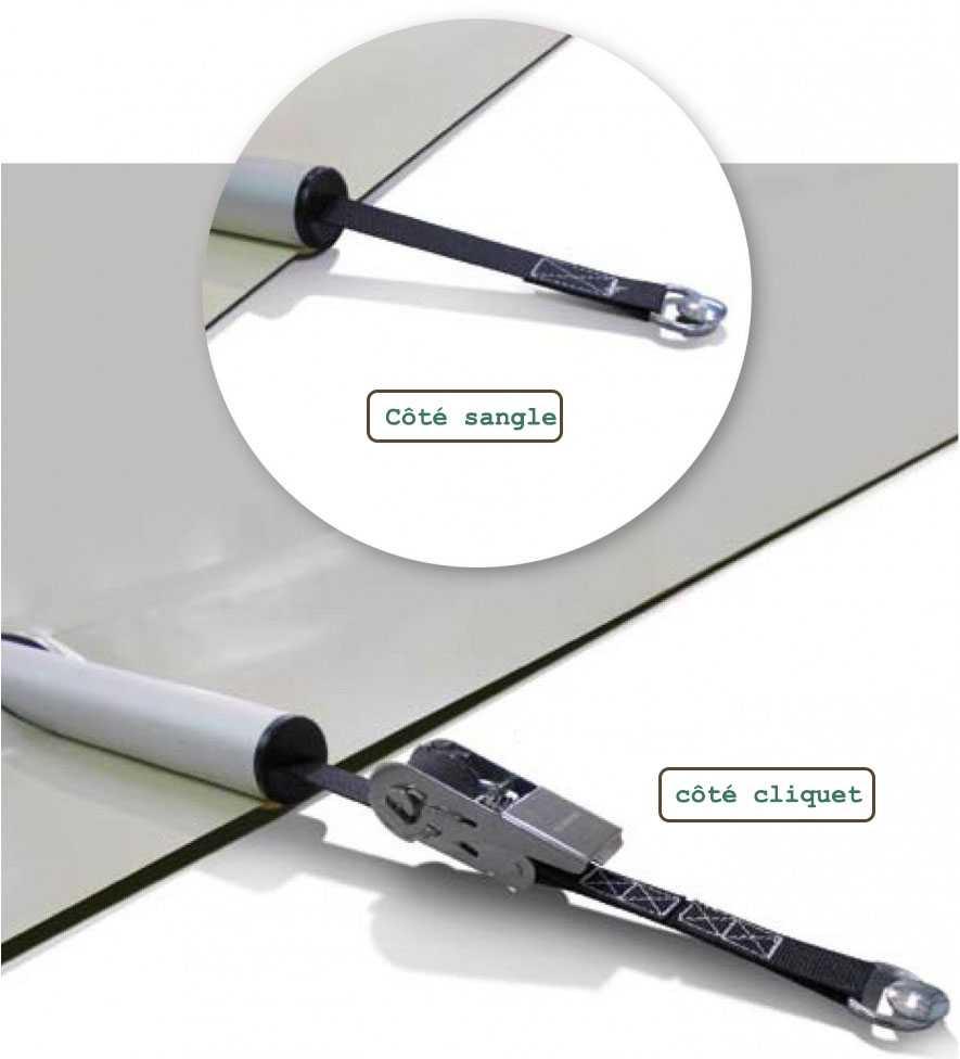 kit anti soulevement dans tube aluminium pour les couvertures à barres