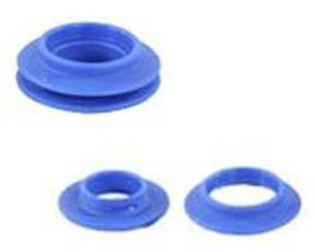 oeillet a frapper plastique bleu int 19 mm