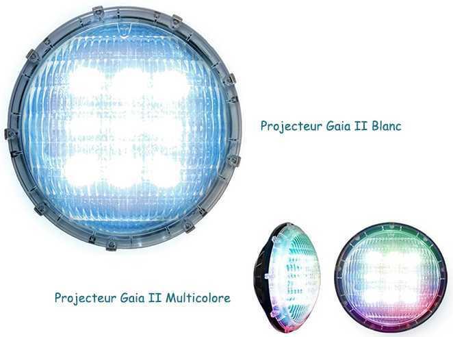 projecteur Gaia II multicolore et blanc