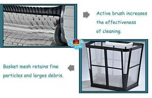 active brush increases the effectiveness of cleaning