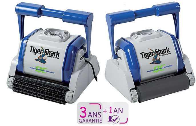 tigershark qc, robot hayward , garantie 4 ans