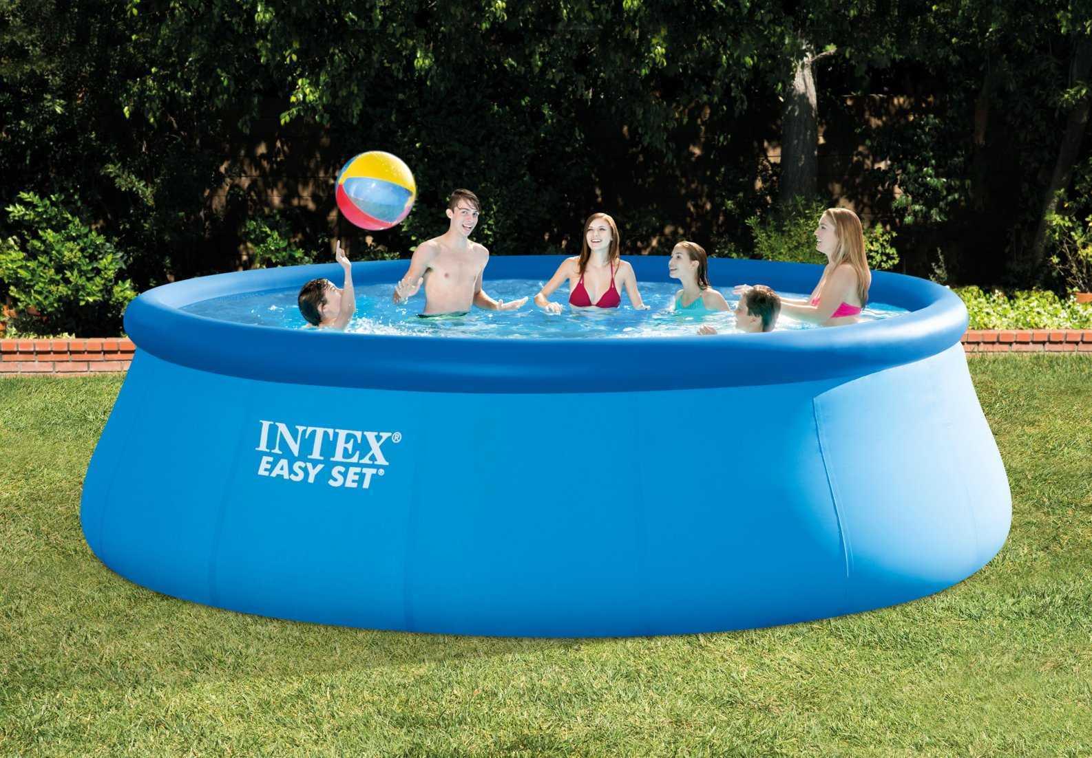 Piscine intex easy set 4 57 x 1 22m c piscine for Bache piscine easy set