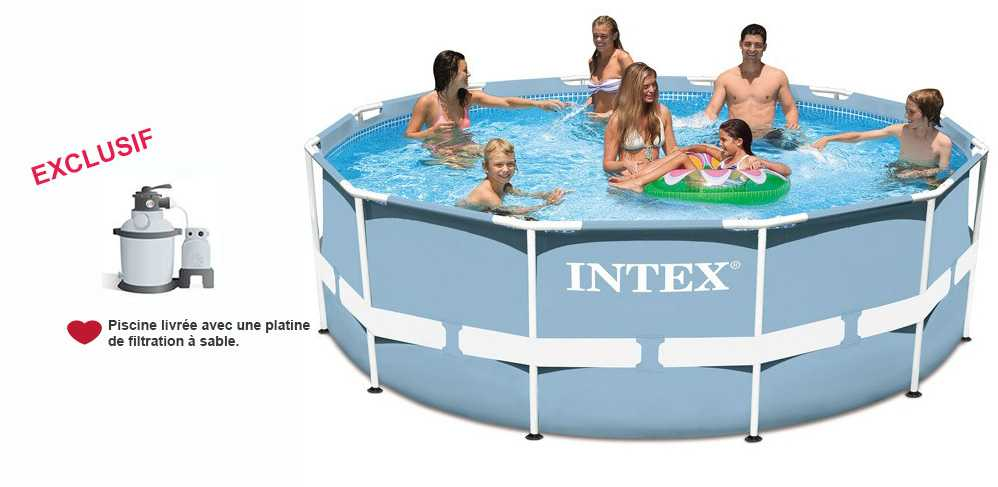 intex piscine tubulaire intex piscine tubulaire et purateur metalframe x m with intex piscine. Black Bedroom Furniture Sets. Home Design Ideas