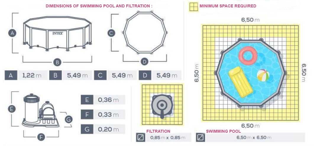 swimming pool prism frame 549 x 132m