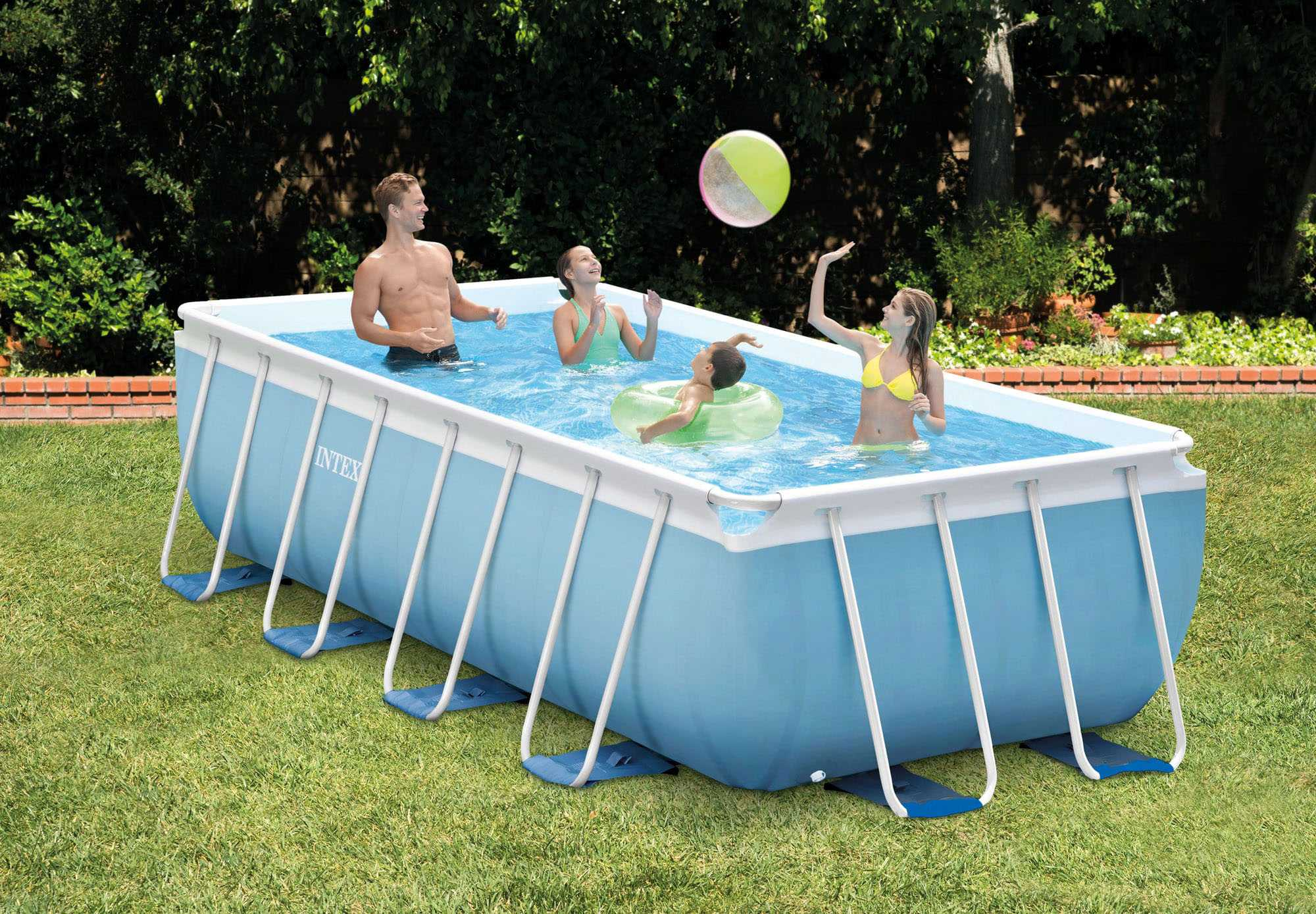 Intex Prism Frame Pool 4.88 x 2.44 x H1.07m | INTEX | Piscine Prism...