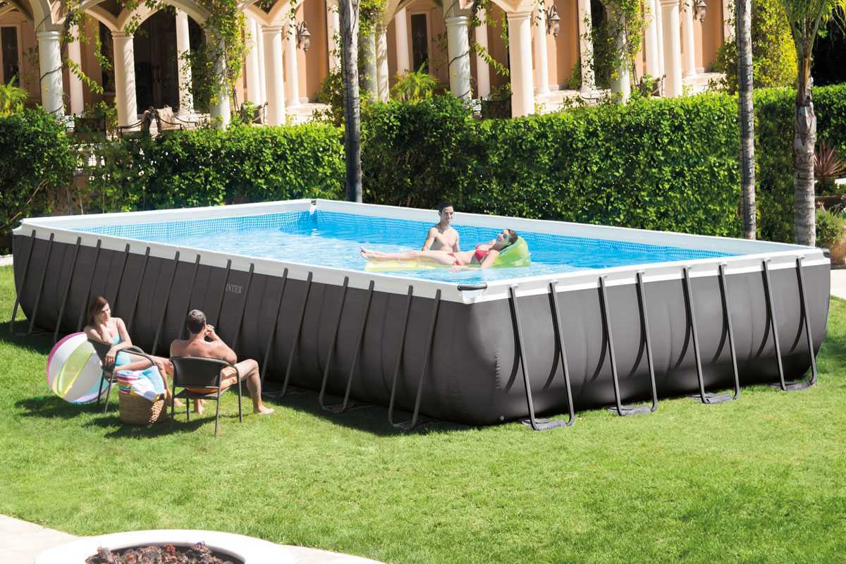 Intex silver ultra frame pool 9 75 x 4 88 x 1 32 m intex for Piscine intex