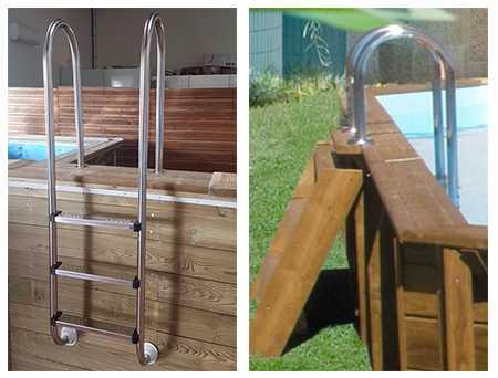 échelles piscine C-Wood