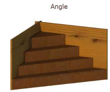 escalier dans l'angle, piscine bois cwood