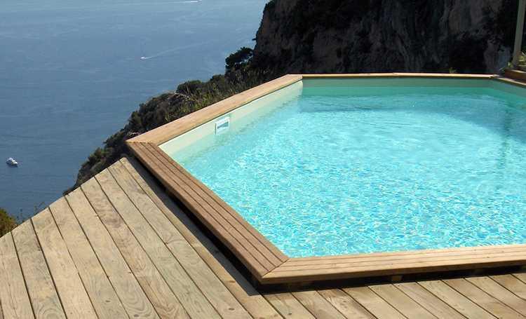 piscine bois octogonale
