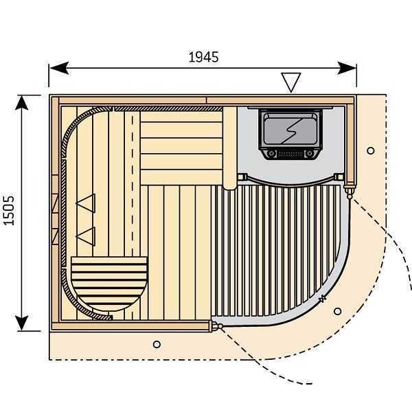 dimensions sauna rondium