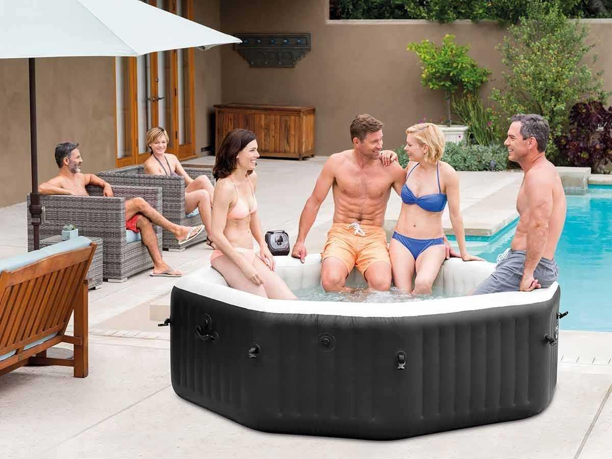 pure spa intex jets et bulles 4 places c piscine. Black Bedroom Furniture Sets. Home Design Ideas
