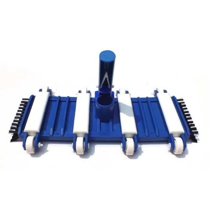 T te de balai flexible b ton 8 roues accessoires de for Balai de piscine